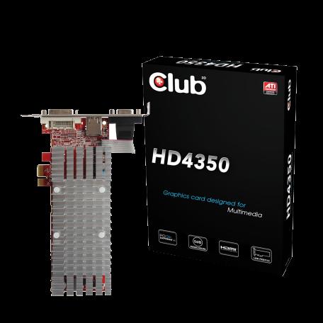 Club3D CGAX-4352ILX1 Radeon 4350 PCI-E x1 (512MB, VGA/DVI/HDMI, LP)