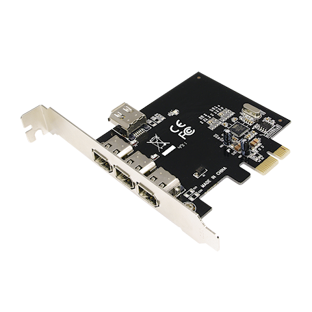 LogiLink PC0030A Firewire PCI Express kaart (3+1-poorts, IEEE1394a)