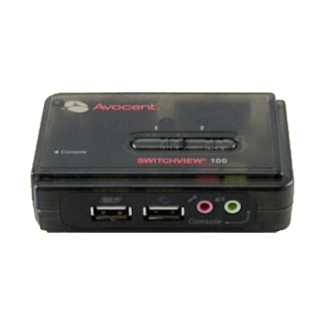 Avocent 2SV120BND1 SwitchView 100 (2-poorts, VGA+USB+Audio + kabels)