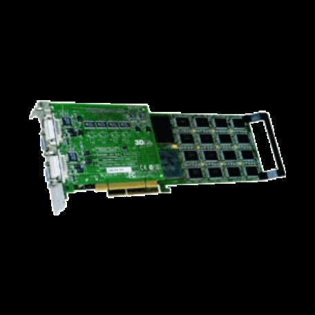 3Dlabs Oxygen GVX420 Dual-Head videokaart (AGP+PCI, 128MB, 2x DVI/VGA)