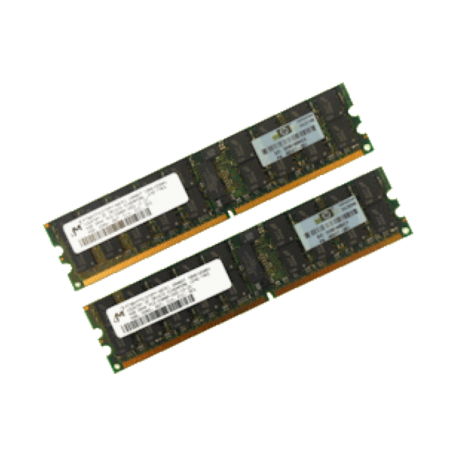 HP 408855-B21 16GB DDR2 PC2-5300P Dual-Rank DIMM-kit (2x 8GB)