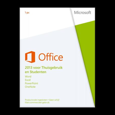 Microsoft 79G-03602 Office 2013 voor Thuisgebruik en Studenten 1PC