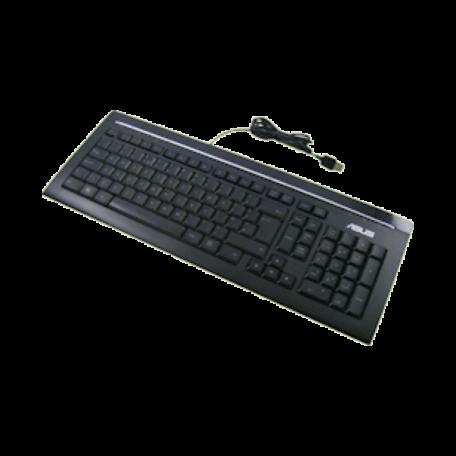Asus KB34211 Keyboard (USB, NL QWERTY, Zwart/Zilver)
