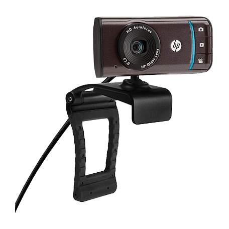 HP BK357AA HD-3110 Autofocus Widescreen TrueVision HD-webcam (1280x720 resolutie, microfoon, USB)