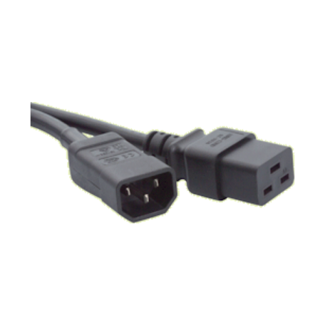 AWM UPS-EXT3M Verlengsnoer tbv. UPS en/of server (C14M-C19F, 3M)