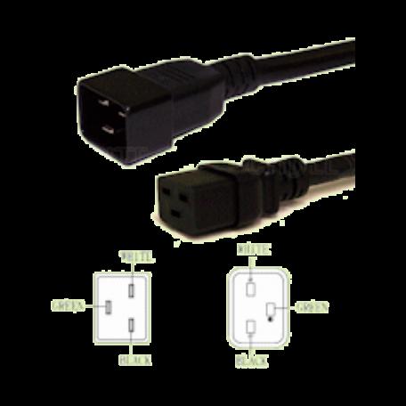 AWM UPS-C19-C20-2.5M Verlengsnoer tbv. UPS/Server (C19F-C20M, 250CM)