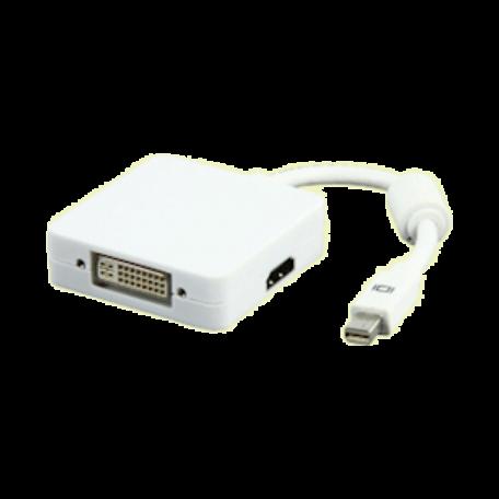Valueline CABLE-1109-0.2 Mini DP naar HDMI/DVI/DisplayPort verloop (20cm)