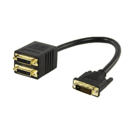 Valueline VGCP32950B02 DVI Y-splitter DVI-D naar 2x DVI-D (verguld, 15cm)