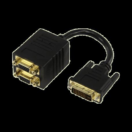 Valueline CABLE-563 DVI Y-splitter DVI-I naar 2x VGA (verguld, 15cm)