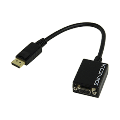 Valueline CABLE-573-0.2 DisplayPort naar VGA-female verloopkabel (20cm)
