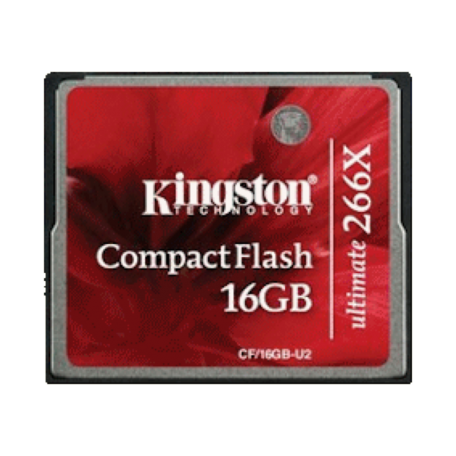 Kingston CF/16GB-U2 16GB Ultimate CompactFlash 266x + Recoverysoftware