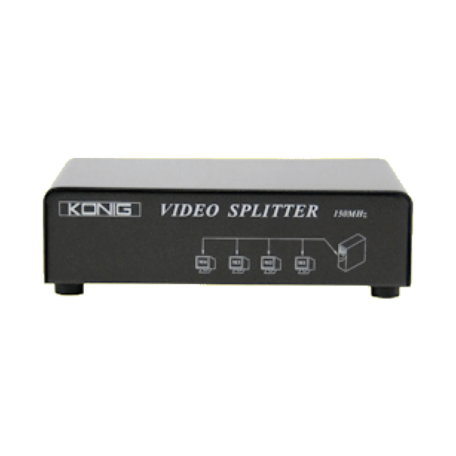 König CMP-SWITCH95 4-poorts VGA-splitter (tot 1600x1200 resolutie)
