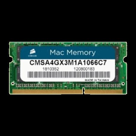 Corsair CMSA4GX3M1A1066C7 4GB SO-DIMM (DDR3 1066MHz, PC3-8500, 16-chips)
