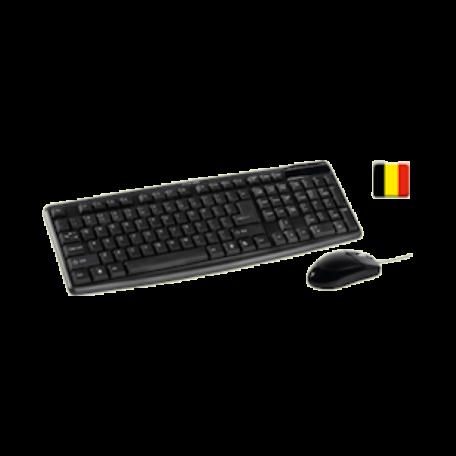 König CSKMCU100BE Set van AZERTY-toetsenbord + optische muis (USB)