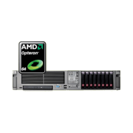 HP Proliant DL385 G2 2U Dual Opteron 2218/8GB/4x36GB 10K/DVD E200/2xPSU