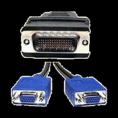 HP 338285-008 DMS-59 naar Dual VGA (HD15 female) kabel (20cm)