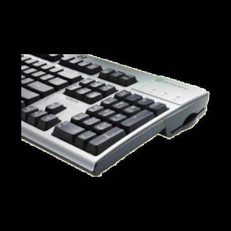 HP ED707AA USB-toetsenbord (NL, Smartcardlezer, Zilver/Zwart)