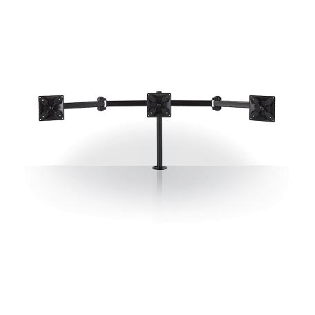 Nedis ERGOTMM100BK Bureau-Monitorbeugel 180° Draai- en Kantelbaar voor 3 monitoren (14-24