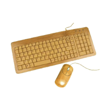 EnerGenie EG-KBM-001 Set bamboe multimedia toetsenbord en optische muis
