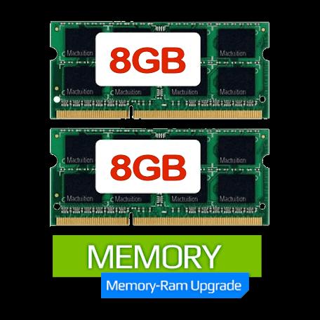 Deze machine uitgerust met 16GB intern geheugen i.p.v. 8GB