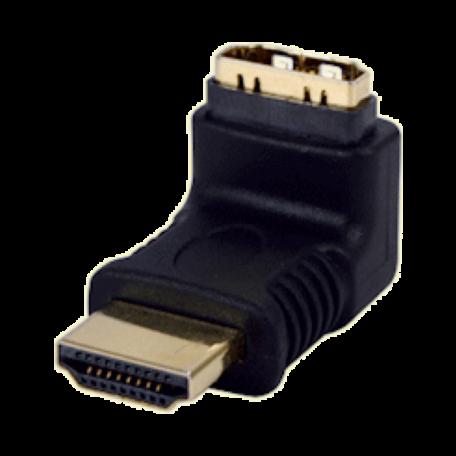 Valueline VGVP34902B HDMI type A (19-pins) M-F 270 graden adapter haaks