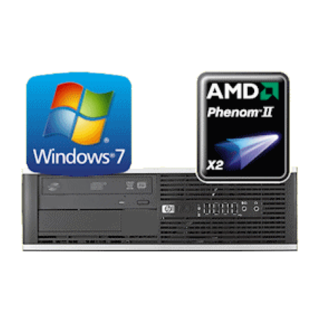 HP/Compaq 6005 Pro SFF Phenom II X2 3.4GHz 2GB/160GB/DVDRW Gbit/10xUSB/7P