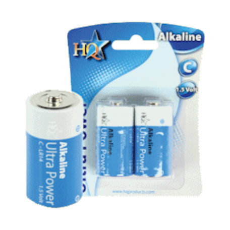 HQ HQ-ALK-C-01 Alkaline C-LR14 Ultra Power Baby batterij