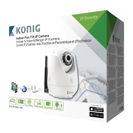 König SAS-IPCAM110W Pan-Tilt IP-Camera Binnen VGA Wit