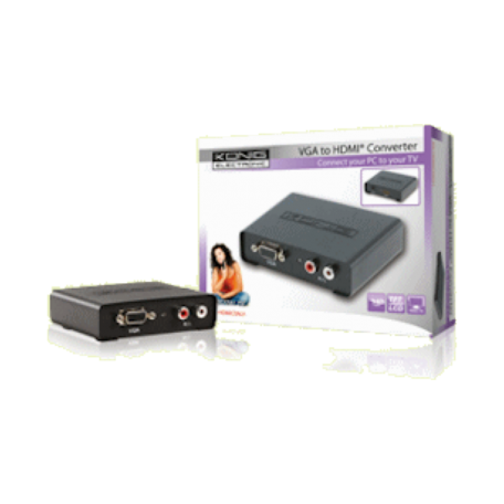 König KN-HDMICON21 VGA naar HDMI converter (max. 1920x1080 + audio)