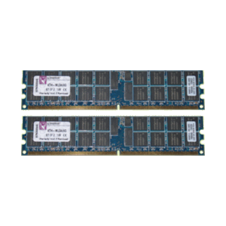 Kingston KTH-MLG4SR/4G 4GB DDR2 PC2-3200R Single-Rank DIMM-kit (2x 2GB)