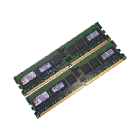 Kingston KTM2865/2G 2GB DDR2 PC2-3200R Single-Rank DIMM-kit (2x 1GB)