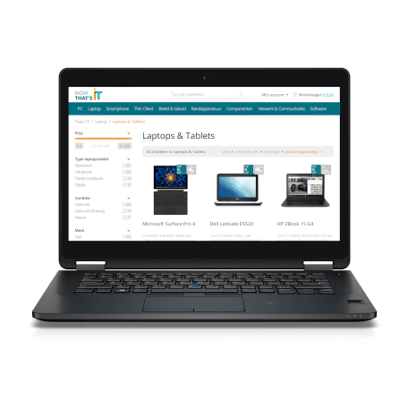 Dell Latitude E7470 Core i5-6300U, 8GB DDR4/256GB SSD, 14 inch HD, Webcam, ac-WiFi+BT, Win 10 Pro