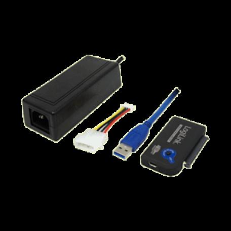 LogiLink AU0009 USB3.0 naar SATA adapter met voeding & OTB-functie