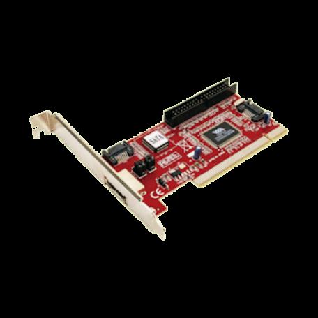 LogiLink PC0005A PCI-Controller 2x SATA, 1x ATA/133 IDE & 4x USB2.0