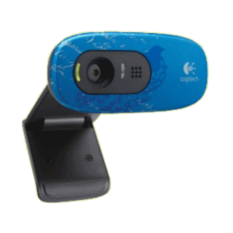 Logitech C270 USB HD-webcam (1280x720 HD, microfoon, Indigo)