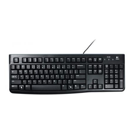 Logitech K120 USB-keyboard (zwart, slank model, morsbestendig)