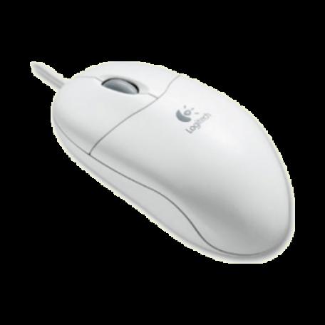 Logitech 953689-0914 Pilot Wheel Mouse(PS/2, 3-knops, scrollwiel, wit)