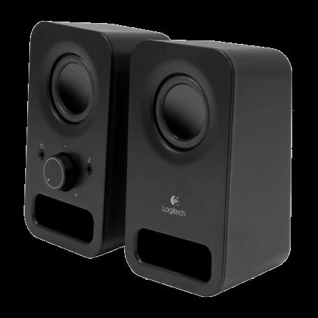 Logitech 980-000814 z150 Stereo 2.0 Multimedia Speakerset met dubbele driver (3W RMS, Zwart)