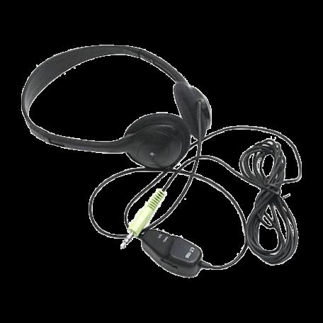 Labtec LT-100 Stereo Hoofdtelefoon (3.0m kabel & volumeregeling)