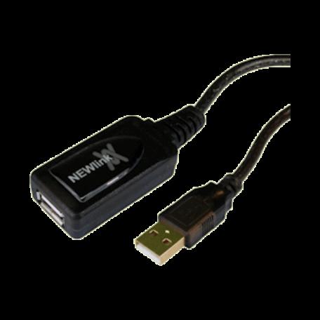 NewLink USBREP10 Actieve USB2.0 Repeaterkabel 10 meter