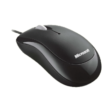 Microsoft P58-00019 Basic Optical Mouse (Optisch, Scrollwiel, USB)