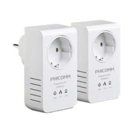 Phicomm FPA-511Pkit Set van 2x 500Mbps (Full-HD) Powerline Adapters