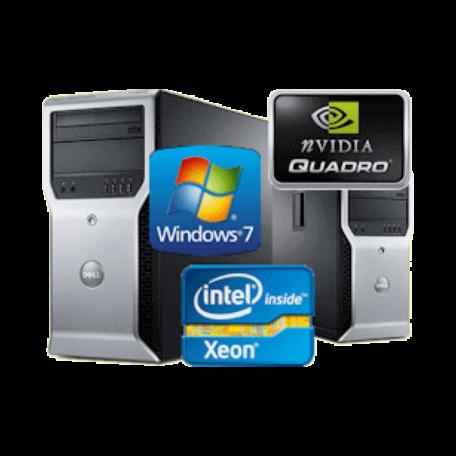 Dell Precision T1600 Xeon E3-1270 3.4GHz 8GB/320GB/DVDRW Gbit/Q2000/W7P