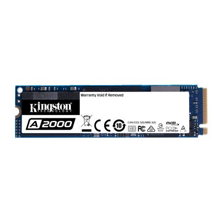 Kingston SA2000M8/500G 500GB A2000 Series M.2 2280 PCIe 3.0 x4 NVMe SSD (3D V-NAND, 2200/2000MB/s)