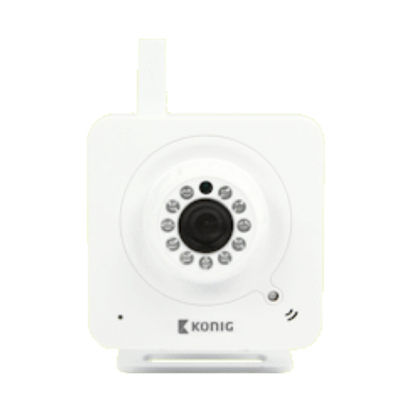 König SAS-IPCAM100W IP-camera (WiFi, Night-Vision, 2-weg audio, MJPEG)