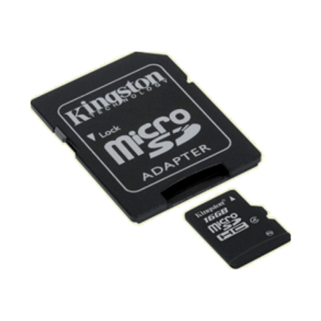 Kingston SDC4/16GB 16GB microSDHC Card Class 4 + SD-adapter