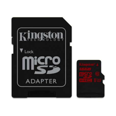 Kingston SDCA3/16GB 16GB microSDHC/SDXC UHS-I U3 Professional +adapter