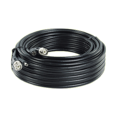 König SAS-CABLE1010B 10.0M Security CCTV Coax-kabel RG59 + voeding (BNC- & DC-connectoren)