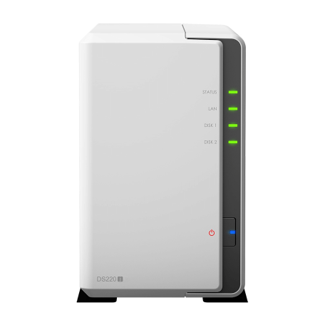 Synology DiskStation DS220j (2-bay NAS, Max. 32TB SATA, Quad-Core CPU, 2x USB3.0 + Gigabit LAN)