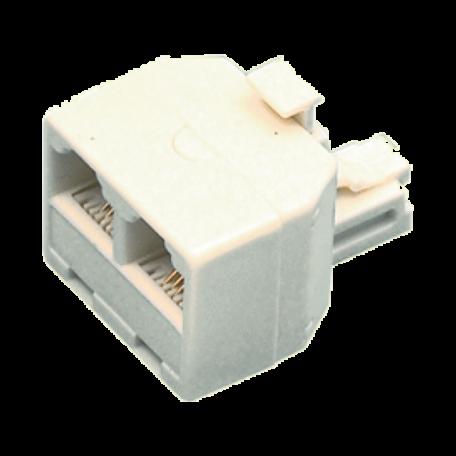 Valueline TEL-0007 RJ-11 splitter (4/6) plug -> 2x RJ11 (4/6) uitgang